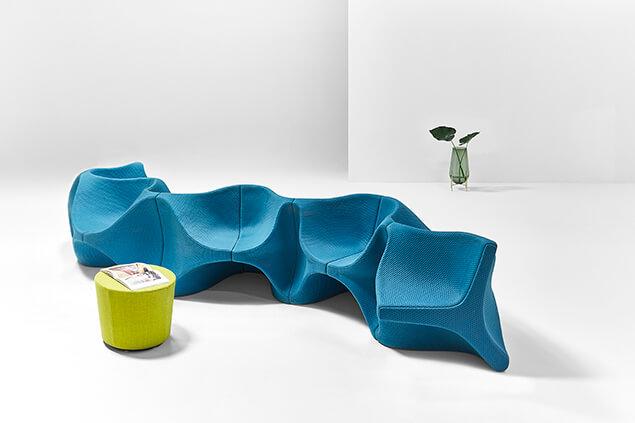 Flexible chairs designed by Karim Rashid